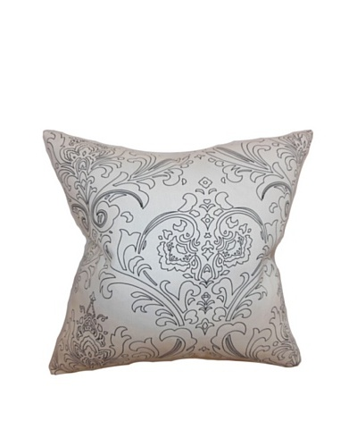 The Pillow Collection Uanita Floral Pillow Black, Black/White