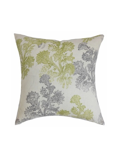 The Pillow Collection Eara Floral Pillow, Moss