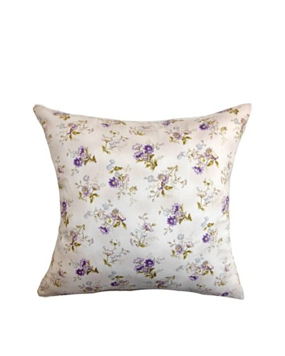 The Pillow Collection Leiko Floral Pillow, Purple