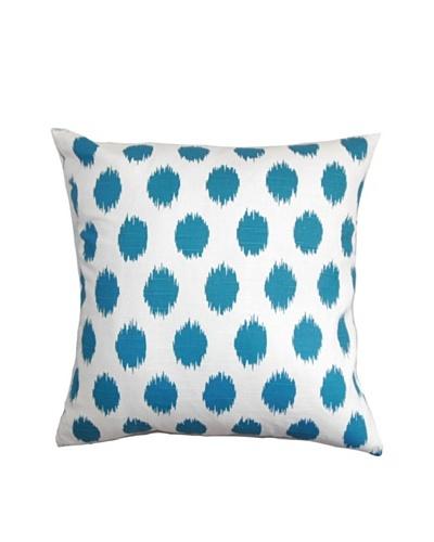 "The Pillow Collection Kaintiba Ikat Pillow, Blue/White, 18"" x 18"""