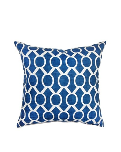The Pillow Collection Raziya Geometric Pillow, Navy, 18 x 18
