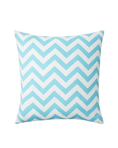 The Pillow Collection Xayabury Zig-Zag Decorative Pillow, Girly Blue, 18 x 18