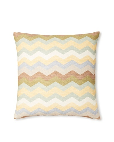 The Pillow Collection Aiome Zig-Zag Decorative Pillow [Pebble]