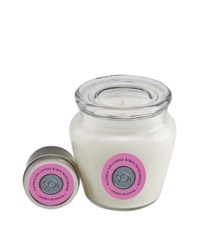 The Soi Co. Cherry Blossom Keepsake Candle & 2 Oz Travel Candle