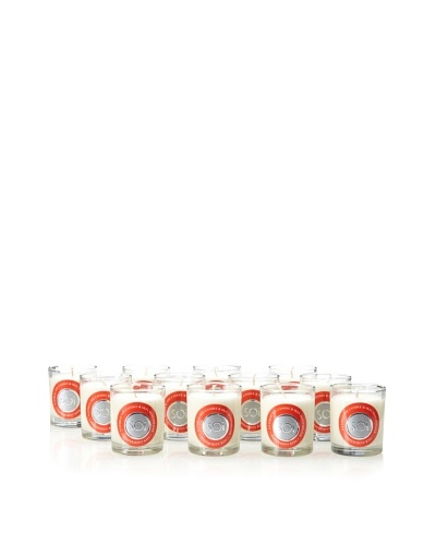 The Soi Co. Set of 12 3-Oz Votives, Peppermint Kiss
