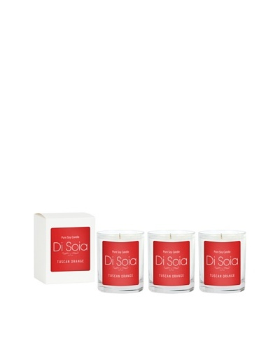 The Soi Co. Disoia 3-Pack Tuscan Orange Votives