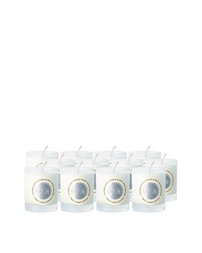 The Soi Co. Set of 12 3-Oz. Truly Clean Cotton Votives