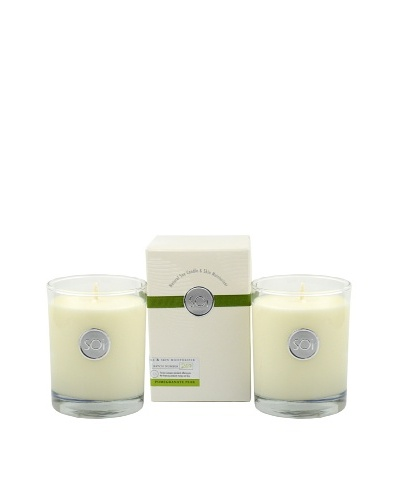 The Soi Co. Set of 2 Pomegranate Pear 13.5-Oz. Luxe Box Candles