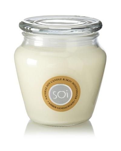 The Soi Co. 16-Oz Amber Sandalwood Keepsake Candle