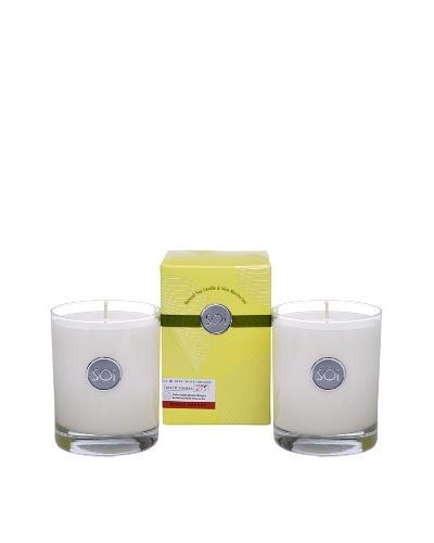 The Soi Co. Set of 2 Tuscan Blood Orange 13.5-Oz. Luxe Box Candles