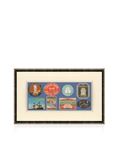 Vintage Luggage Labels - USA, Italy, Holland, Egypt, Switzerland, Austria, Germany