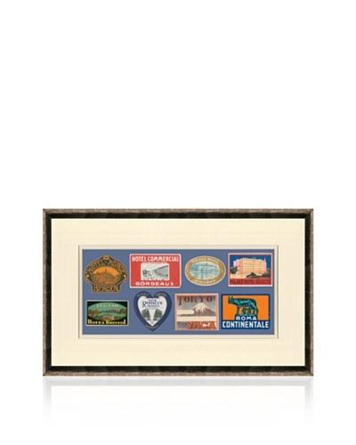 Vintage Luggage Labels - Belgium, Japan, Italy, British Isles, France, USA, Norway,