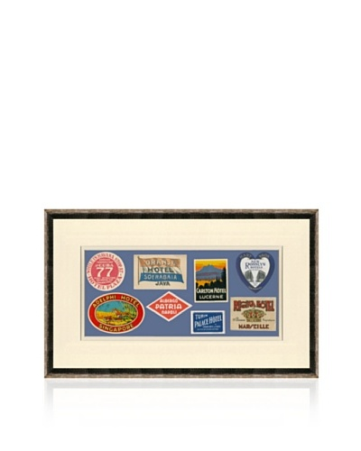 Vintage Luggage Labels - Cuba, Java, Switzerland, USA, Italy, China, France