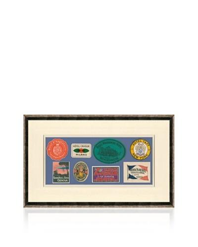 Vintage Luggage Labels - Denmark, Switzerland, USA, British Isles, Paris, Italy, Japan