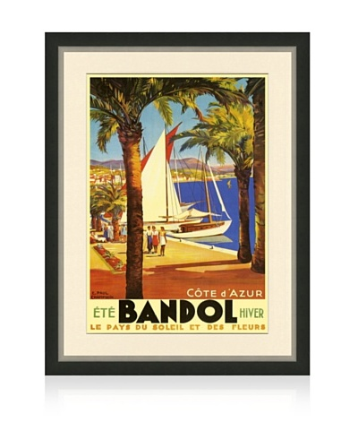 Reproduction Bandol Framed Travel Poster