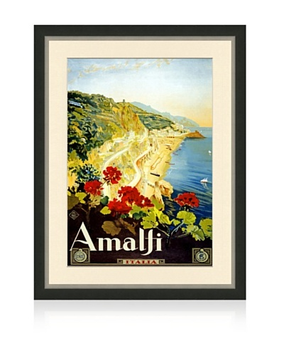 Reproduction Amalfi Framed Travel Poster