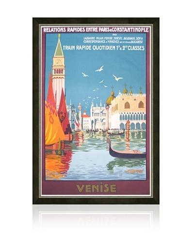 Venise, Train rapide Quotidien Framed Print
