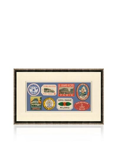 Vintage Luggage Labels - Holland, USA, France, Italy, Japan