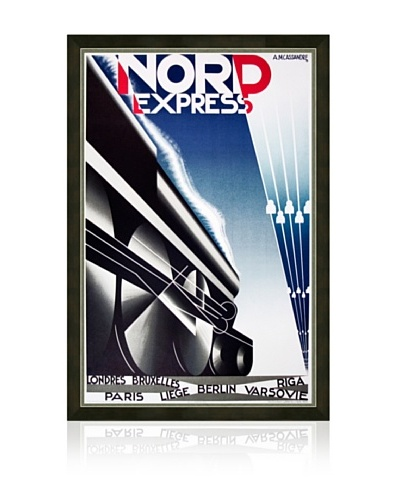 Reproduction Nord Express (Restrike) Framed Print