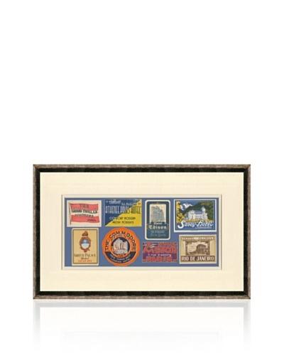 Vintage Luggage Labels - Romania, USA, Japan, Italy, France, Switzerland