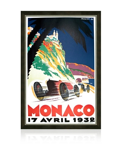 Reproduction 1932 Monaco Grand Prix Framed Print