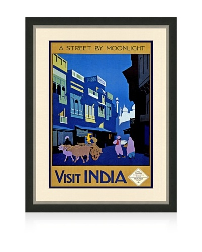 Reproduction India Framed Travel Poster