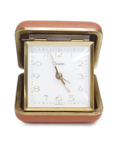 Revelation Vintage Alarm Clock, Brown/Gold/White