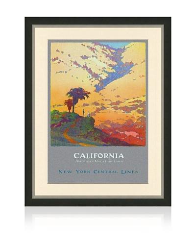 Reproduction California Framed Travel Poster