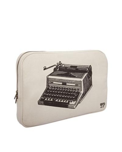 Thomas Paul Typewriter Hand-Screened Laptop Sleeve, Black
