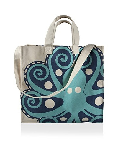 Thomas Paul Octopus Tote Bag, Aqua