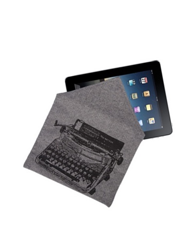 Thomas Paul Typewriter Hand-Screened iPad Envelope, Denim