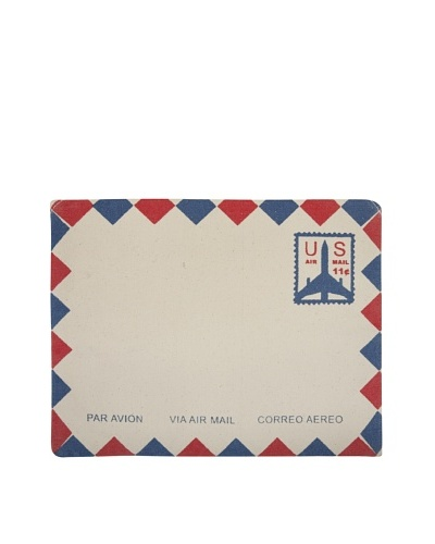 Thomas Paul Blue Air Mail Hand-Screened iPad Envelope, Blue