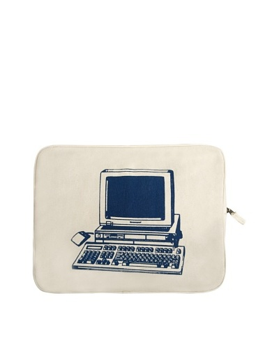 Thomas Paul Computer Hand-Screened Laptop Sleeve, Blue