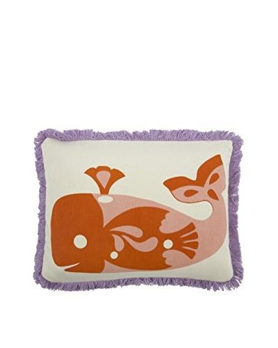 Thomas Paul Amalfi Whale Kids' Pillow, Rose