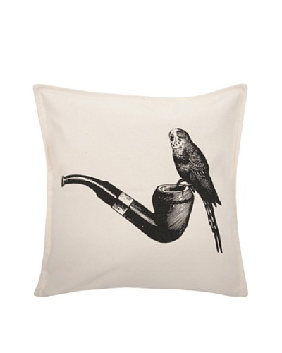 """Thomas Paul Luddite Collection Parakeet and Pipe Pillow, 18"""""""