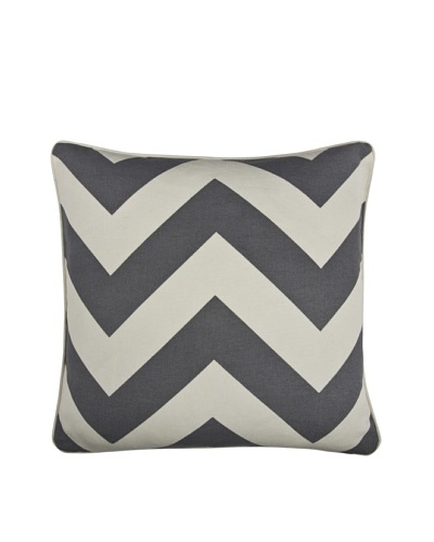 Thomas Paul Herringbone 18 Cotton Pillow, Charcoal