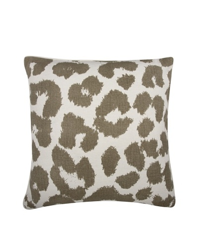 Thomas Paul Leopard Feather Pillow, Mushroom