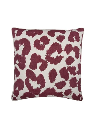Thomas Paul Leopard Feather Pillow, Ruby