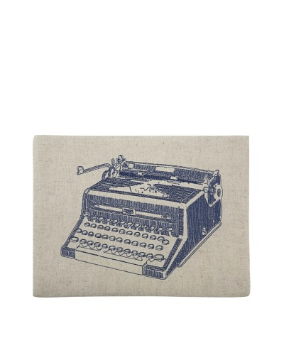 Thomas Paul Typewriter Embroidered iPad Case, Ink
