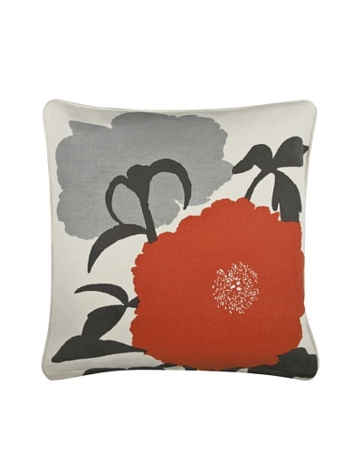 Thomas Paul Peony 18 Cotton Pillow, Charcoal