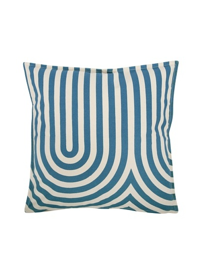 Thomas Paul Geometric Feather Pillow, Teal
