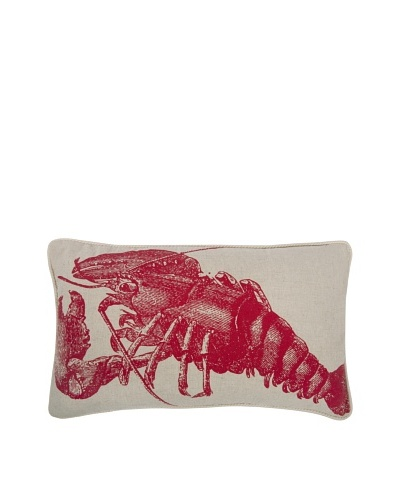 Thomas Paul Lobster Feather Pillow, Lava