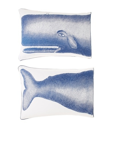 Thomas Paul Pair of Moby Pillow Shams [White/Ink]