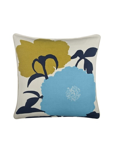 Thomas Paul Peony 18 Cotton Pillow, Indigo