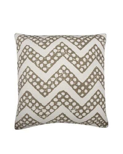 Thomas Paul Chevron Feather Pillow, Mushroom