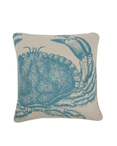 Thomas Paul Crab Feather Pillow, Aqua