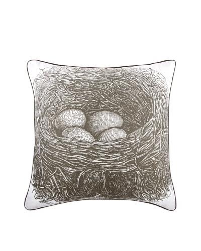 Thomas Paul Nest 18 x 18 Cotton Pillow, Slate