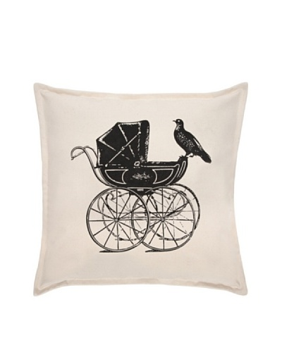 """Thomas PaulLuddite Collection Pram and Pigeon Pillow, 18"""""""