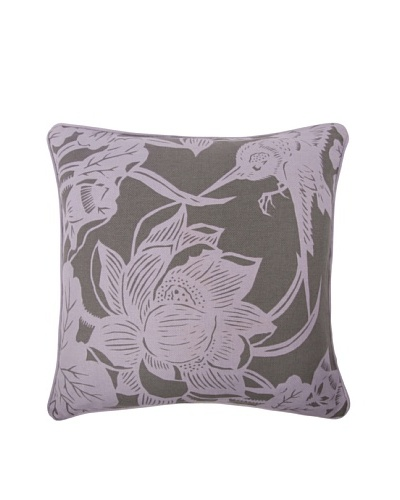 Thomas Paul Hummingbird 18 Cotton Pillow, Lavender