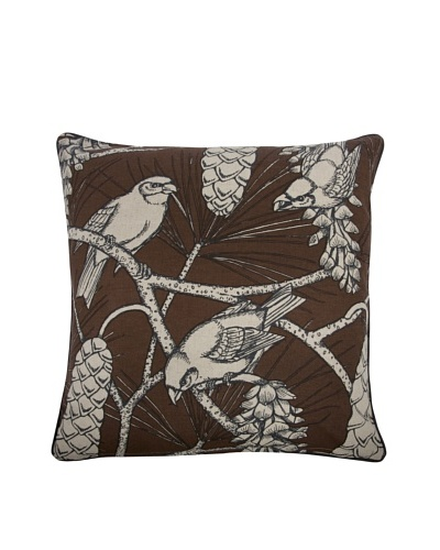 "Thomas Paul Cocoa Pine Pillow, 22"" x 22"""